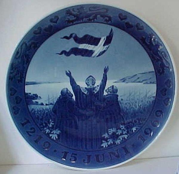 Royal Copenhagen 1219 1969 Denmark Anniversary Plate | eBay